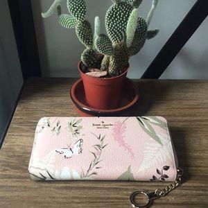 Kate Spade Briar Lane Botanical Pink Wallet